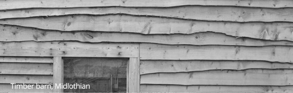 Timber barn, Midlothian